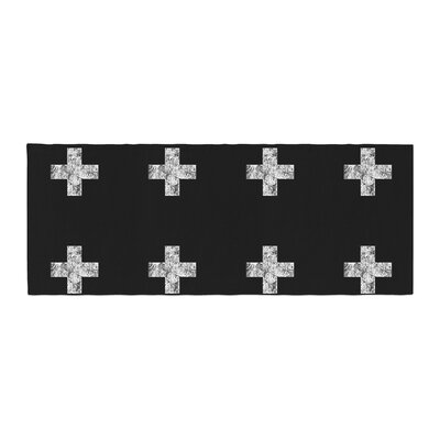 Skye Zambrana Swiss Cross Simple Dark Bed Runner Color: Black