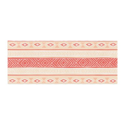 Skye Zambrana Mojave Bed Runner Color: Orange/Red