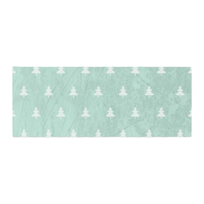 Snap Studio Pine Pattern Bed Runner Color: Aqua/Blue