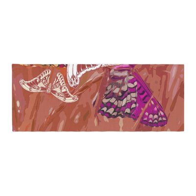 Vikki Salmela Butterflies Party Bed Runner Color: Brown