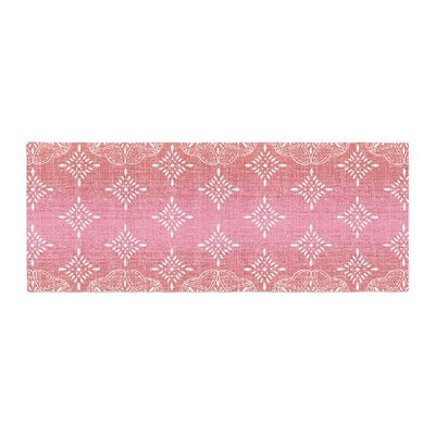 Suzie Tremel Medallion Ombre Bed Runner Color: Red
