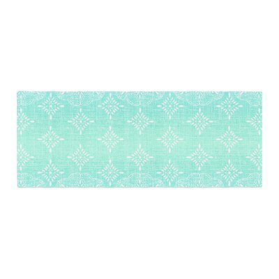Suzie Tremel Medallion Ombre Bed Runner Color: Aqua