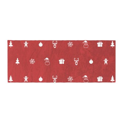 Snap Studio Cheery Pattern Bed Runner Color: Red/Maroon