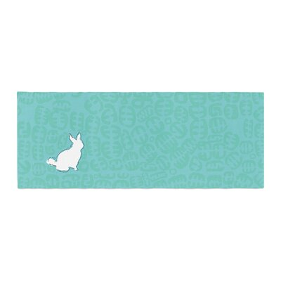 Theresa Giolzetti Oliver Bed Runner Color: Teal