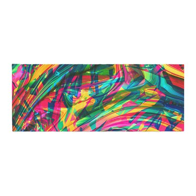 Danny Ivan Wild Abstract Illustration Bed Runner