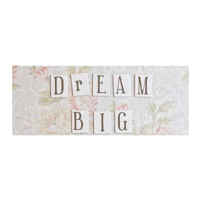 Debbra Obertanec Dream Big Quote Floral Bed Runner