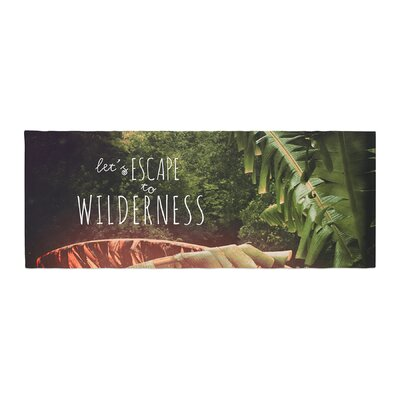 Deepti Munshaw Escape to Wilderness Forest Quote Bed Runner