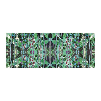 Danii Pollehn Grun Abstract Bed Runner