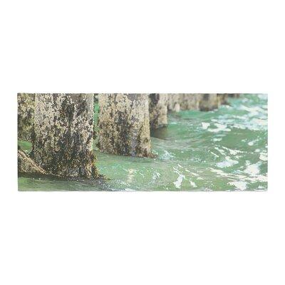 Debbra Obertanec Saltwater Pylons Wooden Bed Runner