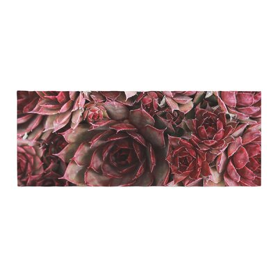 Debbra Obertanec Succulents Maroon Bed Runner