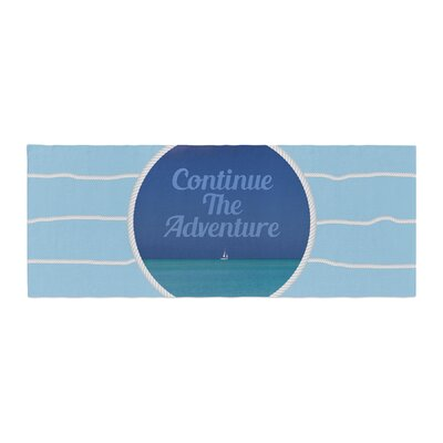 Deepti Munshaw Continue the Adventure Bed Runner
