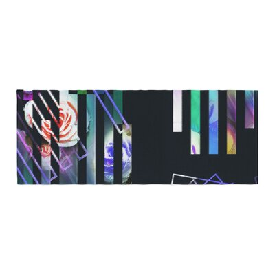Dawid Roc Geometric Stripes Abstract Stripes Bed Runner