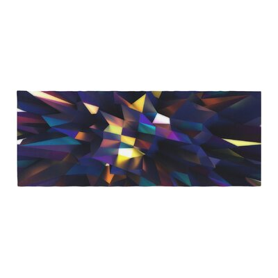 Danny Ivan Low Iris Poly Illustration Bed Runner