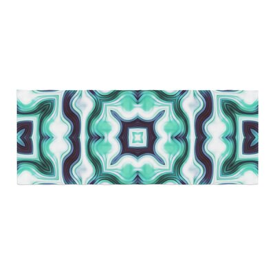Dawid Roc Vintage Flower Pattern 3 Abstract Bed Runner