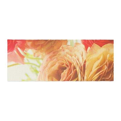 Debbra Obertanec Springtime Ranunculus Floral Bed Runner