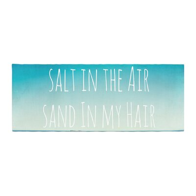 Debbra Obertanec Salt in the Air Ocean Typography Bed Runner