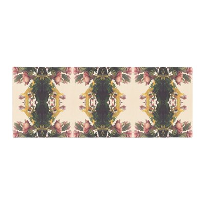 Deepti Munshaw Enchanted Garden Floral Bed Runner