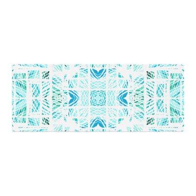 Danii Pollehn Scandanavian Square Bed Runner Color: Blue/Teal