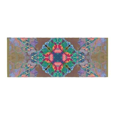 Danii Pollehn Flowery Floral Kaleidoscope Bed Runner