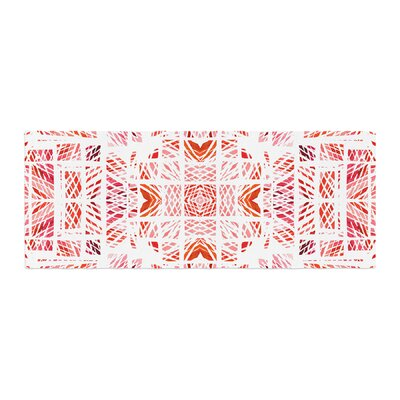 Danii Pollehn Scandanavian Square Bed Runner Color: Red