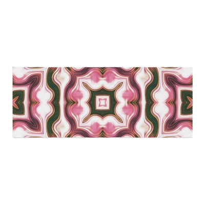 Dawid Roc Vintage Flower Pattern 1 Abstract Bed Runner
