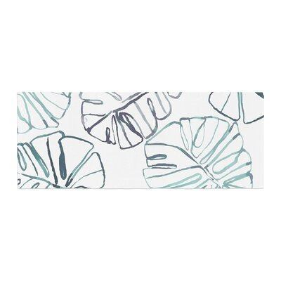 Danii Pollehn Monstera Illustration Bed Runner