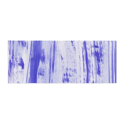 Danii Pollehn Indigo Stripes Watercolor Bed Runner