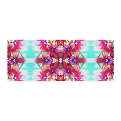 Dawid Roc Tropical Floral Orchids 2 Floral Bed Runner