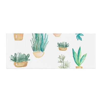 Jessi Blake Plants and Cacti Illustration Bed Runner