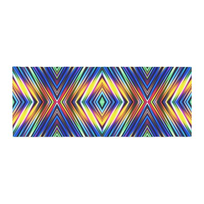 Dawid Roc Multi Colors Modern Tribal Tribal Bed Runner