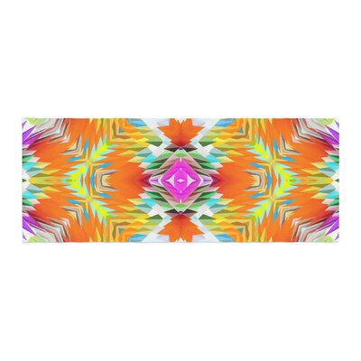 Dawid Roc Colorful Tribal Mosaic Tribal Bed Runner