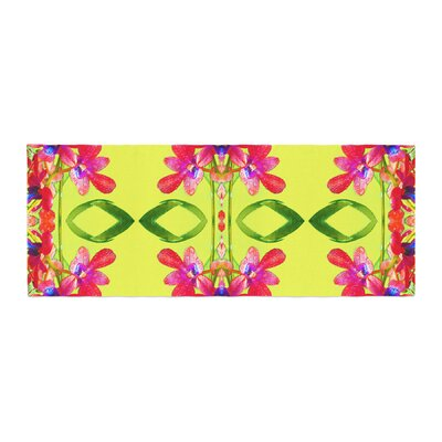 Dawid Roc Tropical Floral Orchids 1 Bed Runner