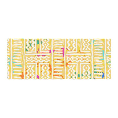 Dan Sekanwagi Lines and Zigzags Colorful Tribal Bed Runner