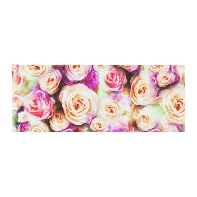 Dawid Roc Sweet Rose Flowers Floral Bed Runner