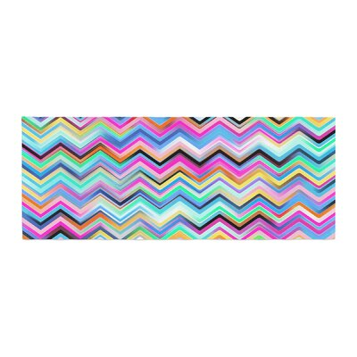 Dawid Roc Colorful Rainbow Chevron Bed Runner