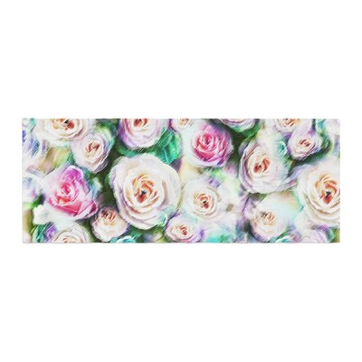 Dawid Roc Bright Rose Floral Abstract Floral Bed Runner