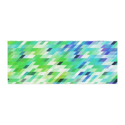 Dawid Roc Colorful Summer Geometric Abstract Bed Runner