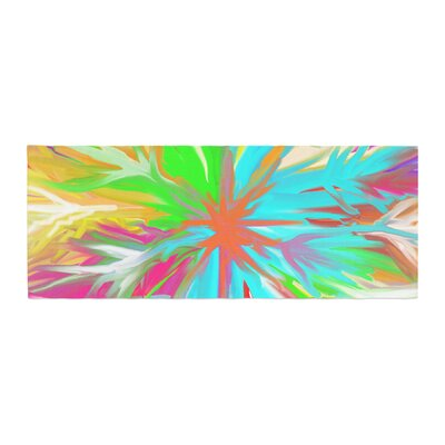 Dan Sekanwagi Tropical Paradise Abstract Bed Runner