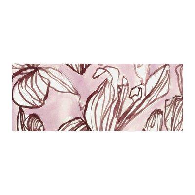 Danii Pollehn Iris Watercolor Illustration Bed Runner