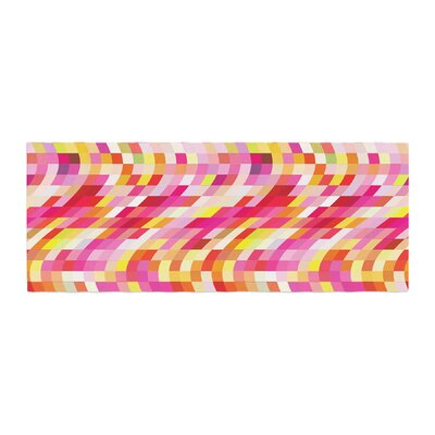 Dawid Roc Colorful Geometric Movement 2 Geometric Bed Runner