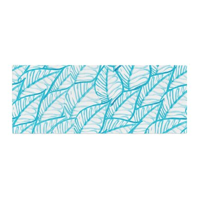 Danii Pollehn Leaves Illustration Bed Runner