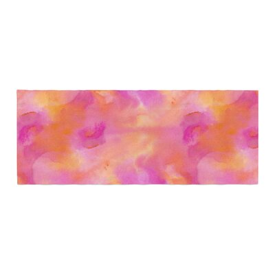 Danii Pollehn Color Explosion Watercolor Bed Runner