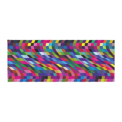 Dawid Roc Colorful Geometric Movement 1 Abstract Bed Runner