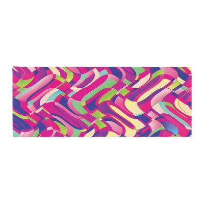 Dawid Roc Colorful Movement Abstract Bed Runner