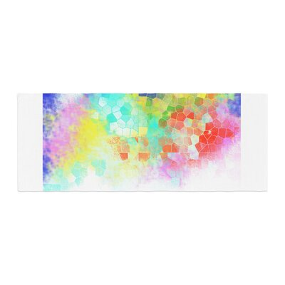 Dan Sekanwagi Color Structure Colorful Abstract Bed Runner