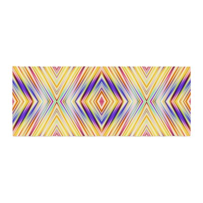 Dawid Roc Colorful Tribal Ethnic Ikat Pattern Bed Runner