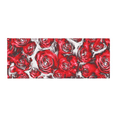 Dawid Roc Roses Floral Abstract Abstract Bed Runner