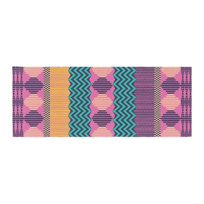 Akwaflorell Knitted Pattern Bed Runner