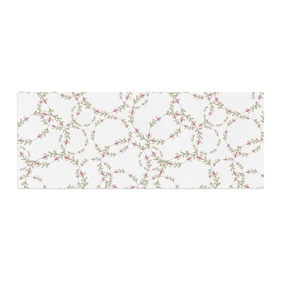 Emma Frances Evergreen Wreaths Bed Runner