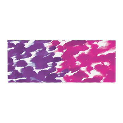 Emine Ortega Fleeting Bed Runner Color: Purple